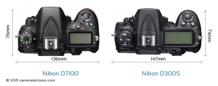 Nikon-D7100-vs-Nikon-D300S-top-view-size-comparison